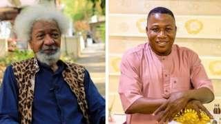 Collage of Prof Wole Soyinka and Sunday Igboho