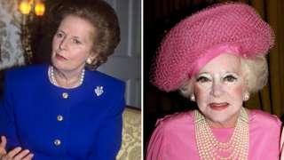 Margaret Thatcher and Barbara Cartland