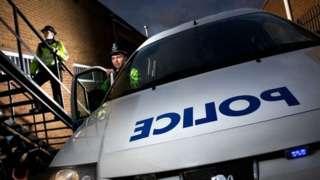 West Midlands Police car stock image