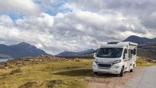 Campervan in Highlands