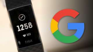 Fitbit next to Google logo