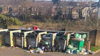 Overflowing bins in Splott, Cardiff