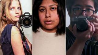 A composite image of all three photographers