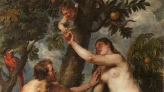 Reprodução da tela A Queda do Homem, de Peter Paul Rubens
