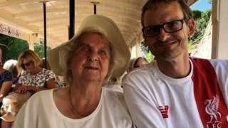 Margaret Evans with her son Ken