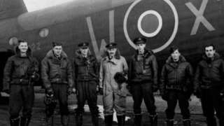 Sgt Charles Armstrong Bell and his crew during WW2