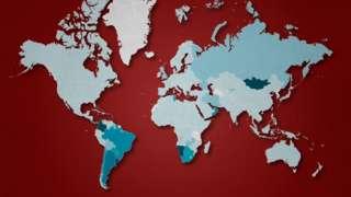 mapa mundial del número promedio de nuevos casos por millón de habitantes