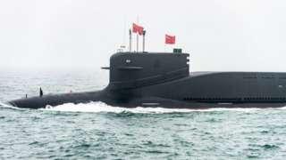 """китайская подводная лодка проекта 094 """"Цзинь"""""""