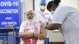 पंतप्रधान नरेंद्र मोदी, कोरोनाल लस