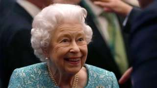 The Queen at the Global Investment Summit at Windsor Castle in October 2021