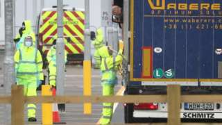 Lorry driver tested for Covid-19