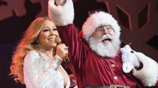 Mariah Carey and Santa Claus