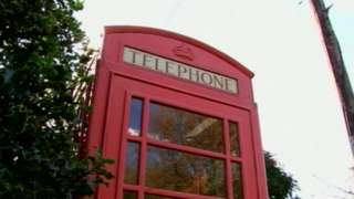 A red phone box in Shropshire