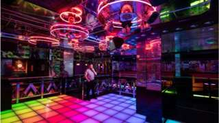An empty nightclub