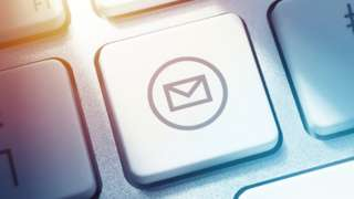 Email button on computer keyboard