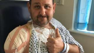 Andy Webster in hospital