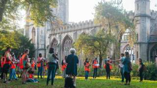 Young people at Temple Church in Bristol