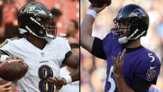 Lamar Jackson and Joe Flacco