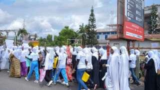 Mata masu zanga-zanga a kasar Ghana ranar 12 ga watan Oktoban 2019