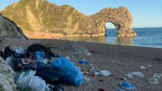 Litter at Durdle Door
