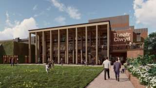 Artist impression of revamped Theatr Clwyd