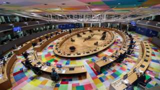 European heads of States and government attend the round table of a two-days face-to-face European Council summit, in Brussels, Belgium, 15 October 2020