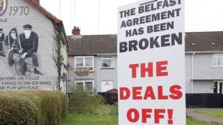 A mural claiming the Belfast (Good Friday) Agreement has been broken by the Northern Ireland Protocol