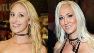 Adult perfomers Ginger Banks (left) and Alana Evans (right)