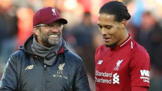 Liverpool boss Jurgen Klopp and defender Virgil van Dijk