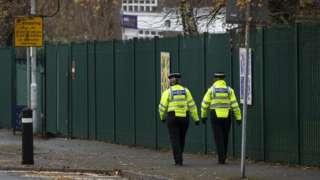 PCSOs outside a school in Huddersfield