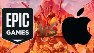 Epic Games and Apple logos