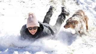 Megan Pennartz and her dog