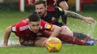 Accrington vs Sunderland in the rain