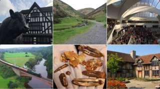 Image showing scenes from around the West Midlands region