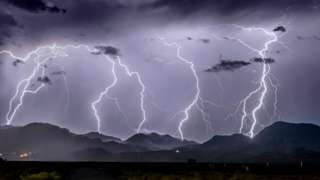 A lightning storm in Arizona