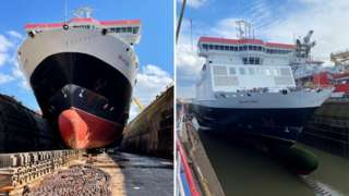 Ben-my-Chree in dry dock