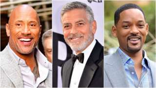 Dwayne Johnson, George Clooney, Will Smith