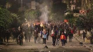 احتجاجات في تونس العاصمة