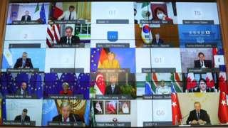 Liderler G20 zirvesine sanal olarak katıldı