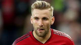 Manchester United left-back Luke Shaw