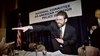 Gerry Adams in New York in 1994