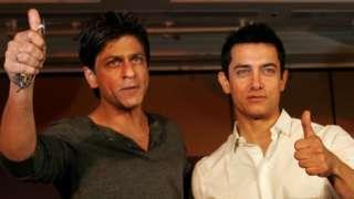 Shah Rukh Khan (L) and Aamir Khan (file photo)