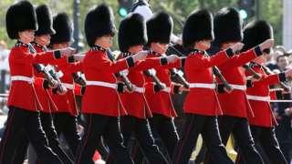 Guardias del Palacio de Buckingham