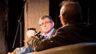 Neil Shand being interviewed