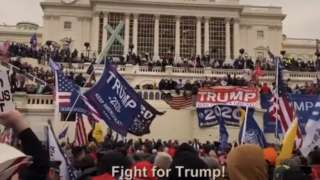Watching the Democrats' footage, we hear members of the mob say they are fighting for Trump