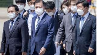 한미 정상회담을 위해 문재인 대통령이 19일 오후 미국으로 출국했다