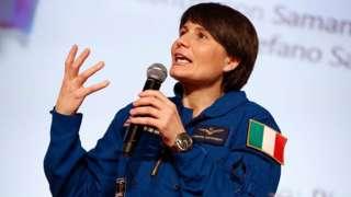İtalyan astronot Samantha Cristoforetti,