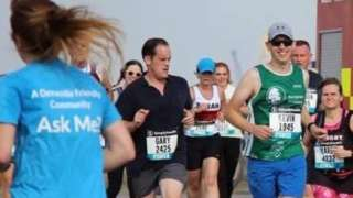 Kevin Ward taking part in the Great East Run in 2019
