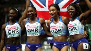 Great Britain 4x100m women's squad