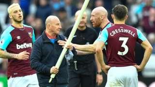 West Ham's James Collins confronts fan Paul Colborne